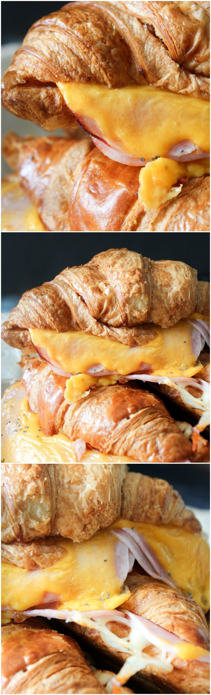 Ham And Cheese Croissant - Poppy Seeds And Honey Croissants - Croissant Recipe - Ham And Cheese - Easy Lunch Recipe - Easy Dinner Recipe - Easy Breakfast