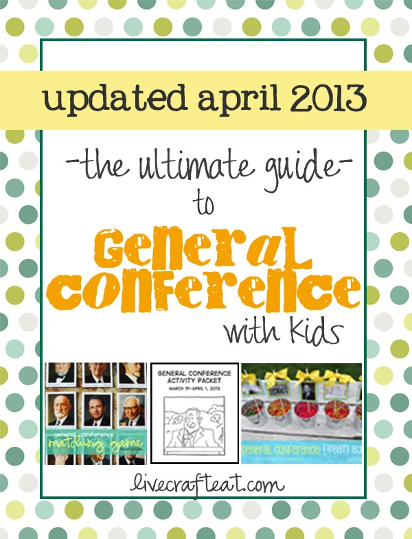 a TON of resources to make general conference with kids not only bearable, but enjoyable!! a bunch of new resources added since last october (2012). | www.livecrafteat.com