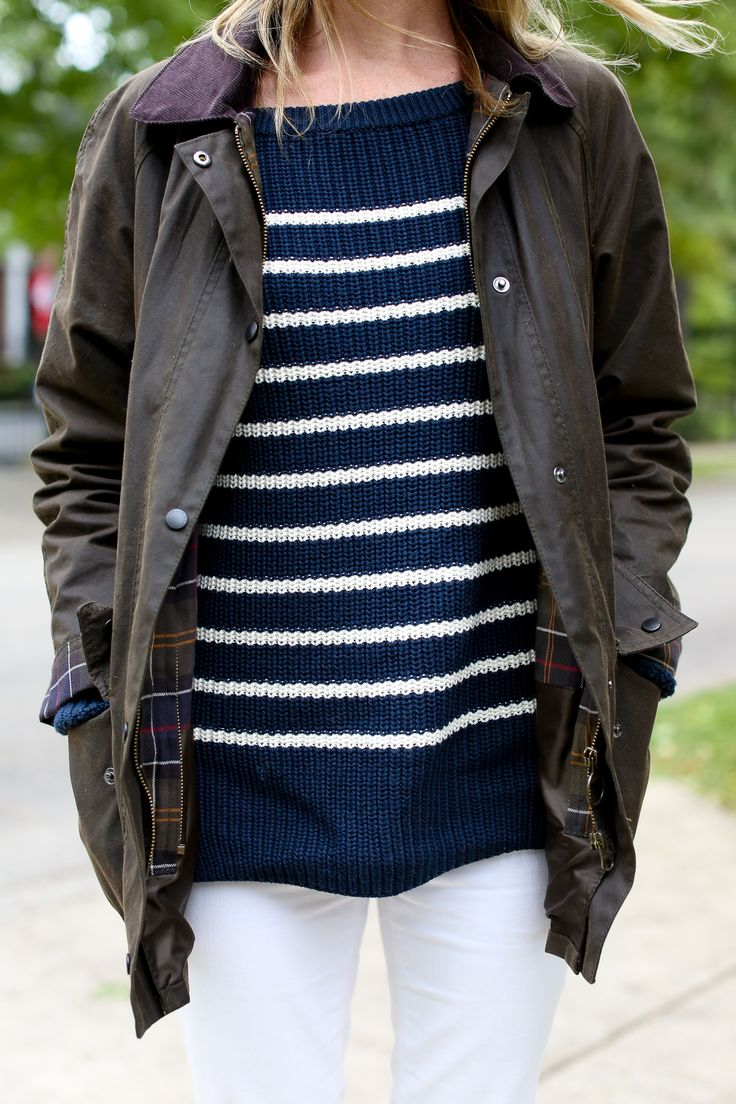 Barbour, striped sweater