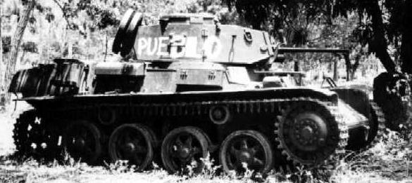 Sweden made L-60 light tank captured by the rebels
