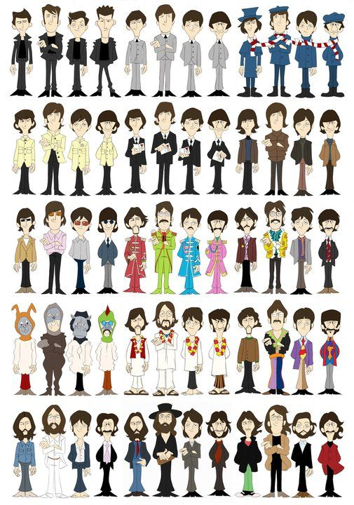 beatles evolution illustration - Buscar con Google