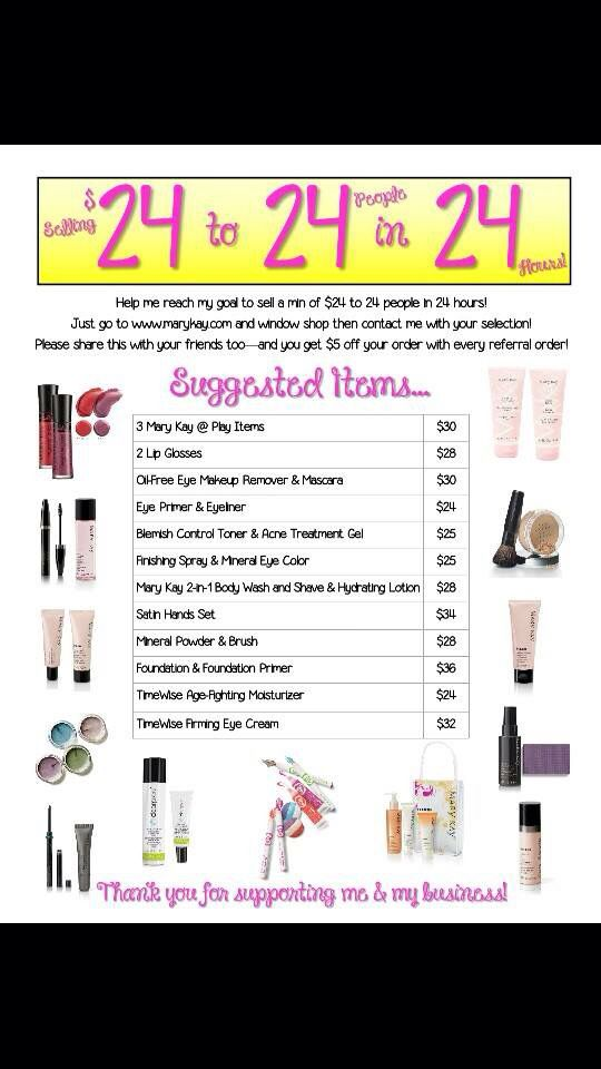 how to sell mary kay successfully