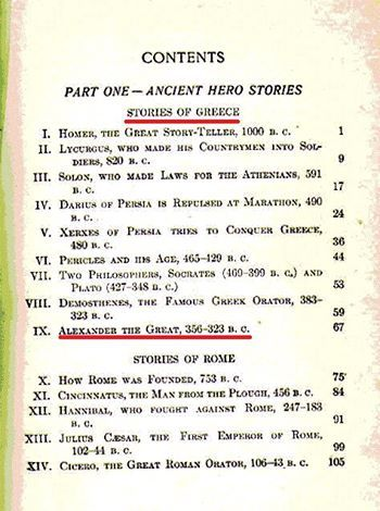 """OLD WORLD HERO STORIES"" by E. M. Tappan, 1909. Macedonia, a kingdom of ancient Greece"