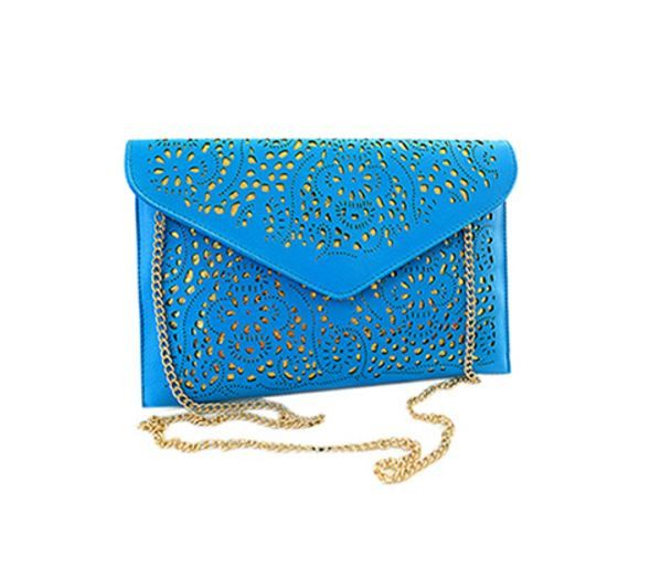 Luxusní koženkové psaníčko s řetízkem – kabelka s dirkovaným vzorem – modrá – SLEVA 60 % + POŠTOVNÉ ZDARMA Na tento produkt se vztahuje nejen zajímavá sleva, ale také poštovné zdarma! Využij této výhodné nabídky …