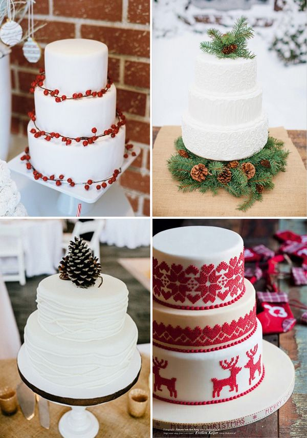 Christmas wedding cake ideas. Follow #Labola.co.za for more great tips and trends on Christmas wedding wonderlands. #LabolaLovesChristmas