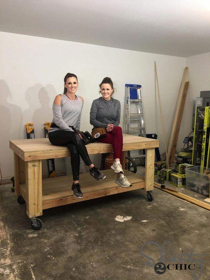 Diy workbench shanty 2 chic bricolagemaison