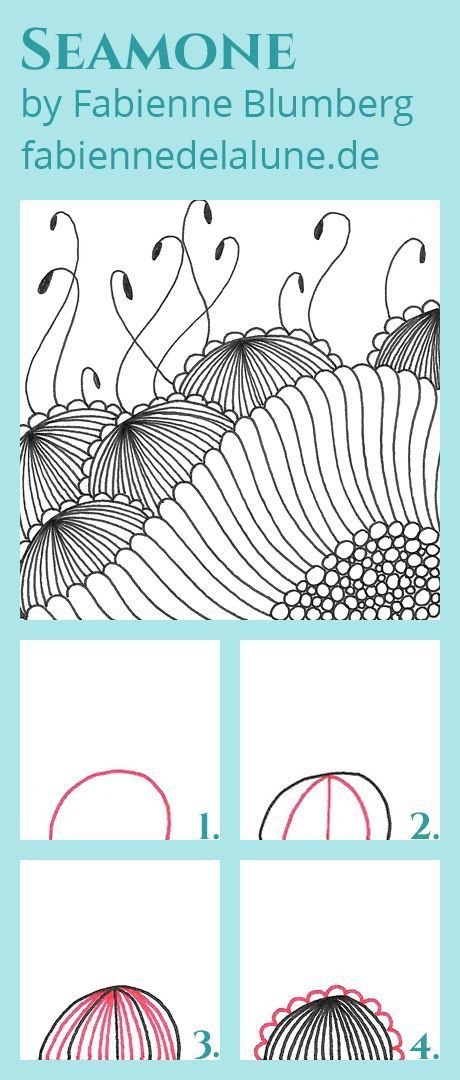 Enthusiastic artist: diamond panes tangle instructions.