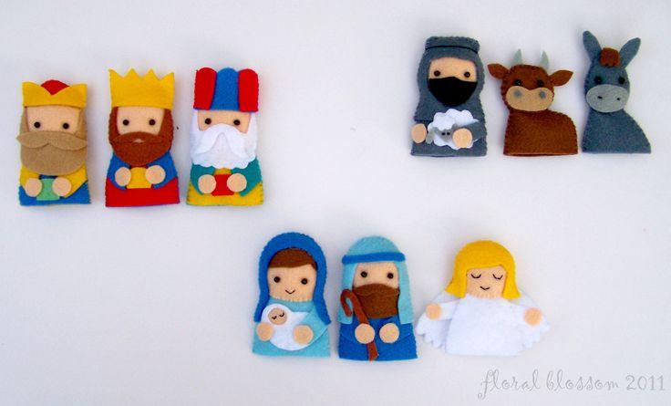 Etsy - PDF Pattern: Nativity Finger Puppets.