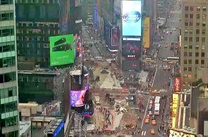 США Нью-Йорк Площадь Таймс-сквер веб камера онлайн