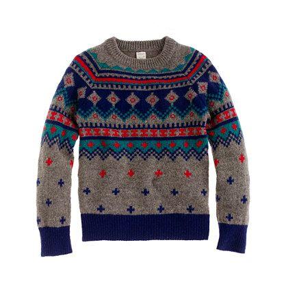 Boys' Fair Isle sweater   Jcrew