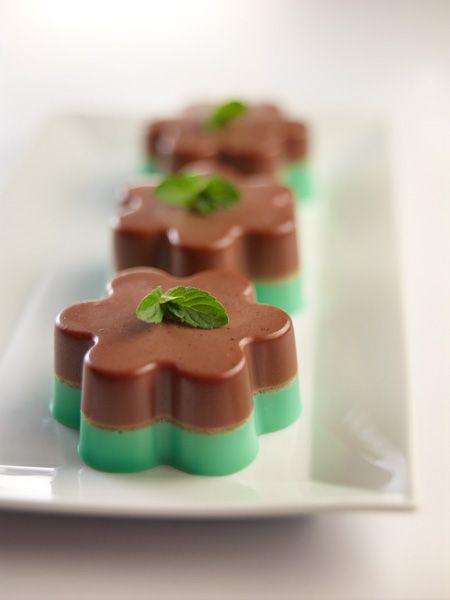 Gelatina de chocolate y menta