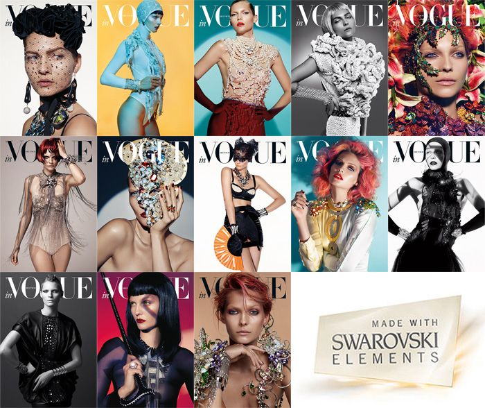 If It's Hip, It's Here: The Spectacularly Sparkly 2013 German Vogue Swarovski Horoscope Calendar Combines Gorgeous Photography, Fashion and ...