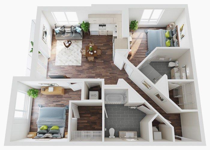 Micro Studio 1 2 3 Bedroom Apartments Lake Nona Pixon Studio Apartment Floor Plans Apartment Layout Small Apartment Floor Plans