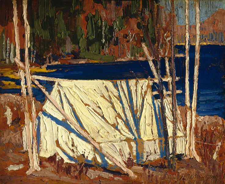 Tom Thomson The Tent, 1915 Oil on Wood 21.5 x 26.8 cm