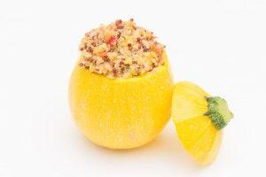 Courgette jaune farcie au quinoa