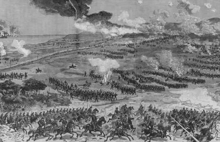 Batalla de Miraflores 15 de enero 1881: febrero 2013. Al fondo la lìnea defensiva Peruana