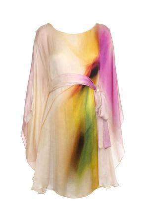 Vanessa Knox Amandine Silk Print Maternity Party Dress | Maternity Clothes | Maternity Dresses