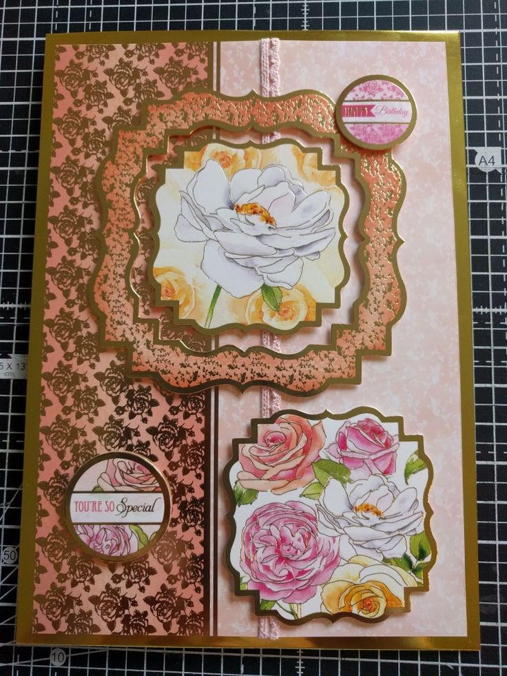 Hunkydory Crafts wonderful women collection rose card