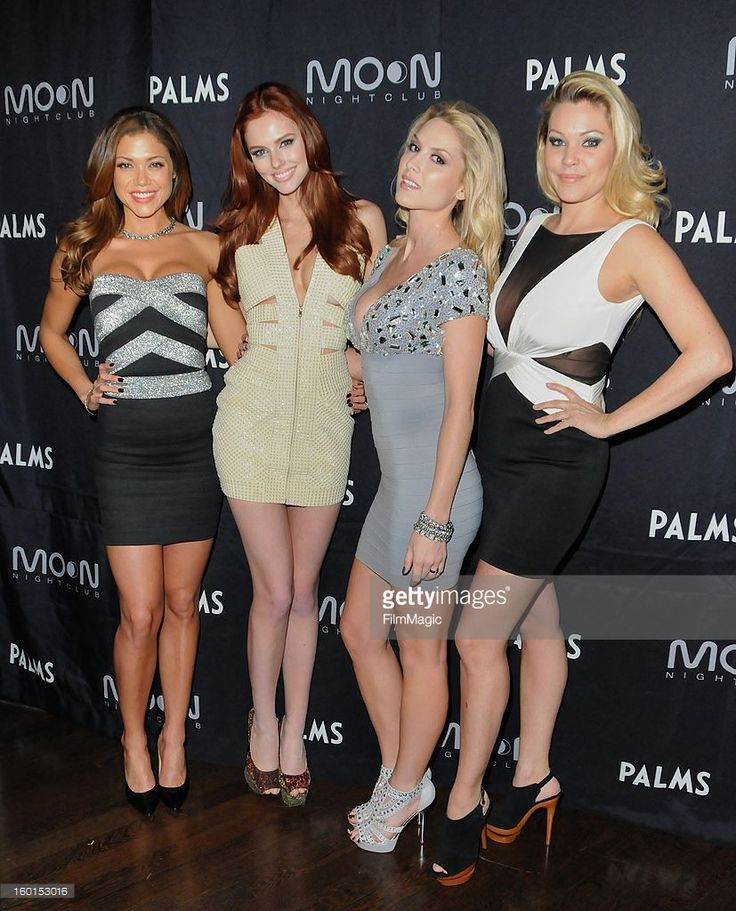 Hillary Cruz, Alyssa Campanella, Tara Conner, Shanna Moakler attend the official Miss Nevada USA after-party at Moon Nightclub at the Palms Casino Resort on January 26, 2013 in Las Vegas, Nevada.