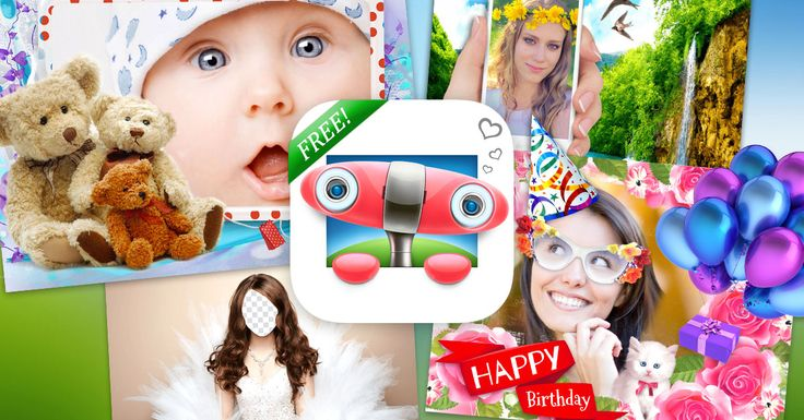 Photo frames and collages editor