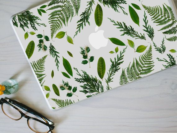 This beautiful leaf macbook decal is made of vinyl by photographing real leaves, ferns and bits of foliage; itll definitely bring that extra