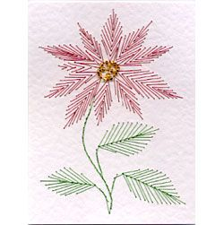 Free stitching card corner scroll pattern | Prick And