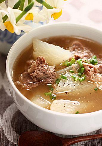 大根と牛肉のスープ