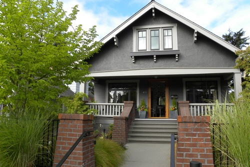 contemporary exterior by Sarah GreenmanExterior Painting, Craftsman Home, Craftsman Exterior, Front Doors, Craftsman Style, House, Painting Colors, Benjamin Moore, Craftsman Bungalows
