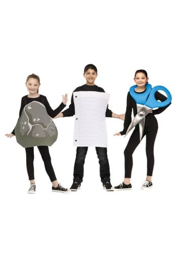 Take care of 3 kids in one shot with this Rock, Paper, Scissor Child Costume! You might even be able to resolve some disagreements!
