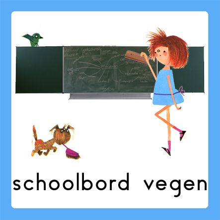 schoolbord vegen