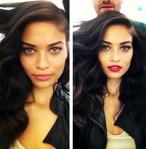 Shanina Shaik before and after makeup Can we just talk about how ...