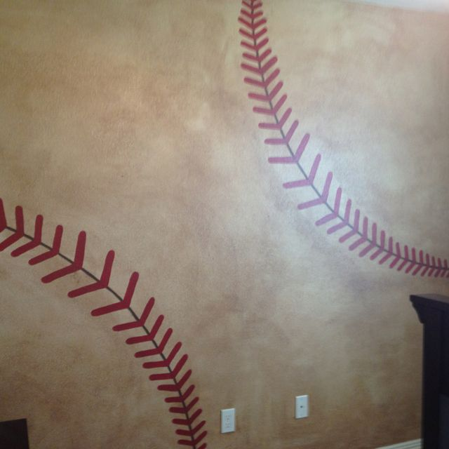 Painted This 3D Baseball Today For A Boys Room
