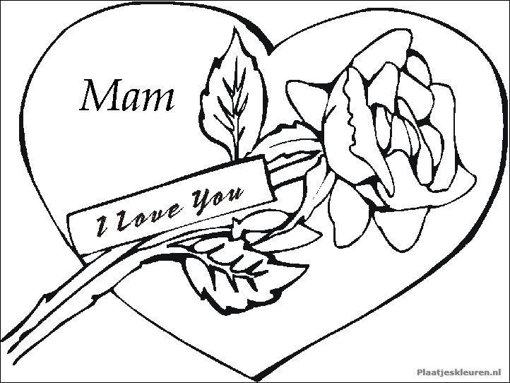 kleurplaten van hartjes voor mama