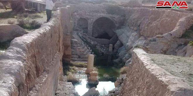 الموارد المائية بحمص تسبر مياه نبع افقا التاريخي بتدمر الذي عاد للتدفق S A N A Natural Landmarks Landmarks Mount Rushmore