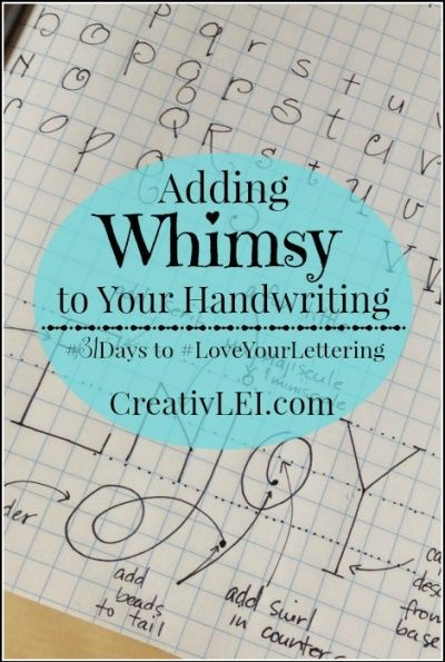 Adding Whimsy to Your Handwriting {#LoveYourLettering} October 7, 2015October 8, 2015 by Lisa