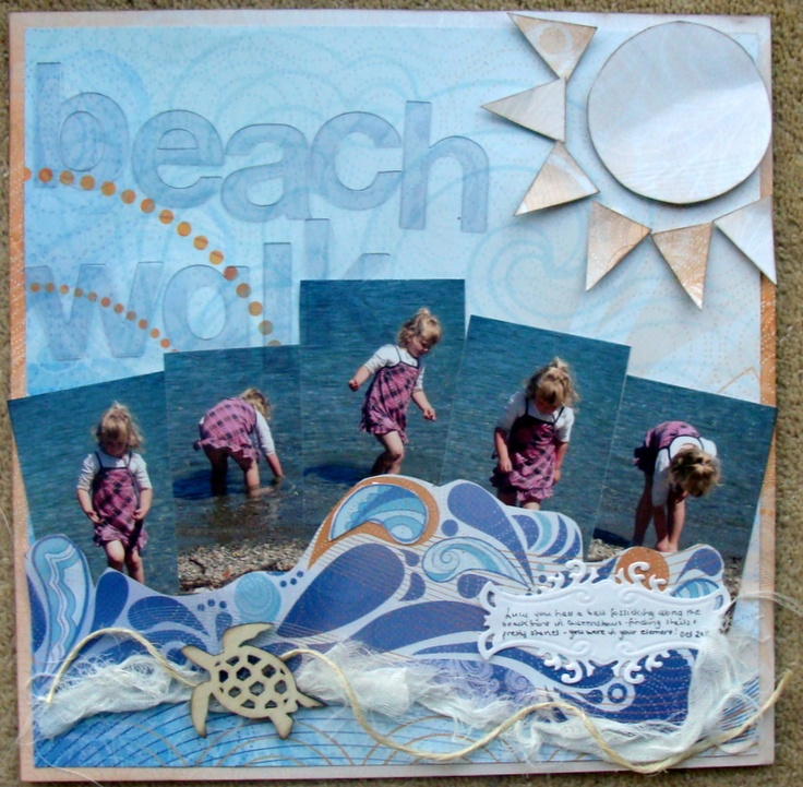 17 Best Images About Scrapbook Pages Beach On Pinterest