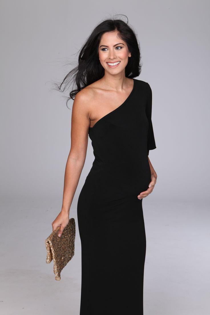 Gorgeous One Shoulder Maxi Maternity Dress Bump It Up