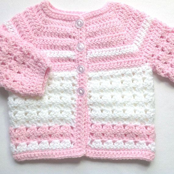 Pink Crochet Baby Set 0 To 3 Months Girl Baby Pink Coat Etsy Crochet Baby Clothes Crochet Baby Outfits Girl Crochet Baby Sweaters