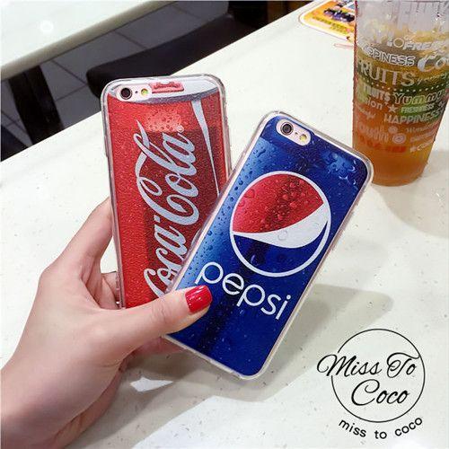 Typisch Coca Muster TPU Handyhülle für Iphone5/5s/6/6s/6plus
