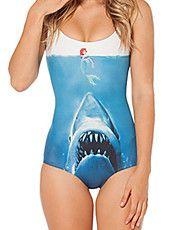 Mujeres Shark VS Sirena de una pieza del traje de baño