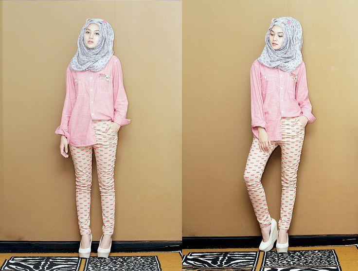 Indah nada puspita -- simple look hijab outfit
