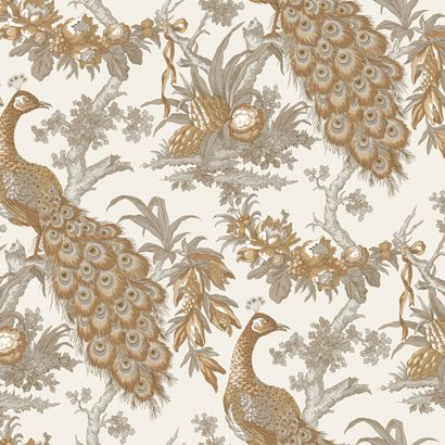 Powder Bath Wallpaper - Ronald Redding Hampton Court