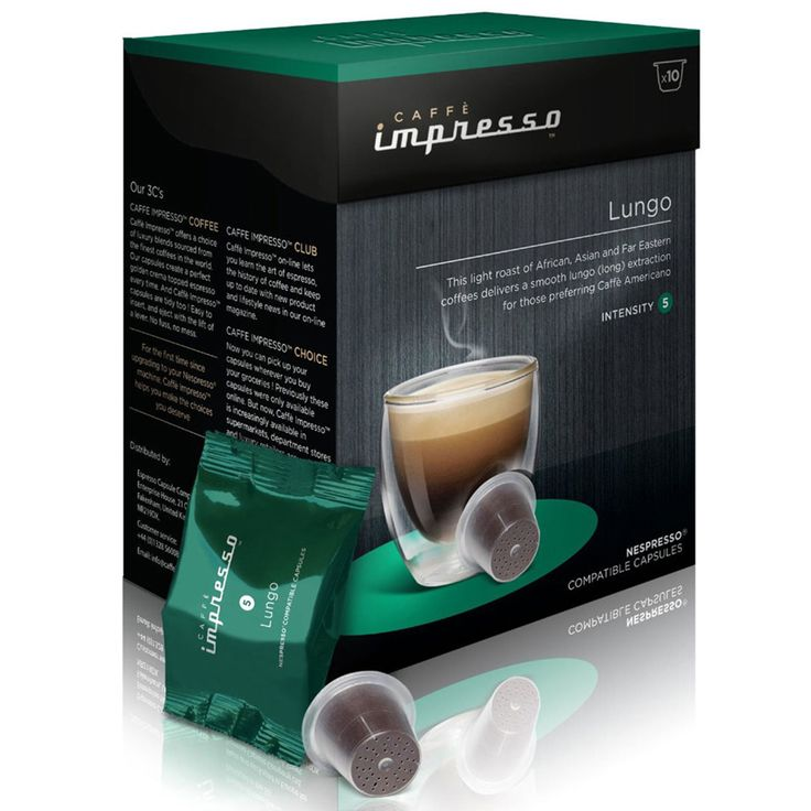 Personal Edge : Caffe Impresso 50018 Lungo Coffee Pods