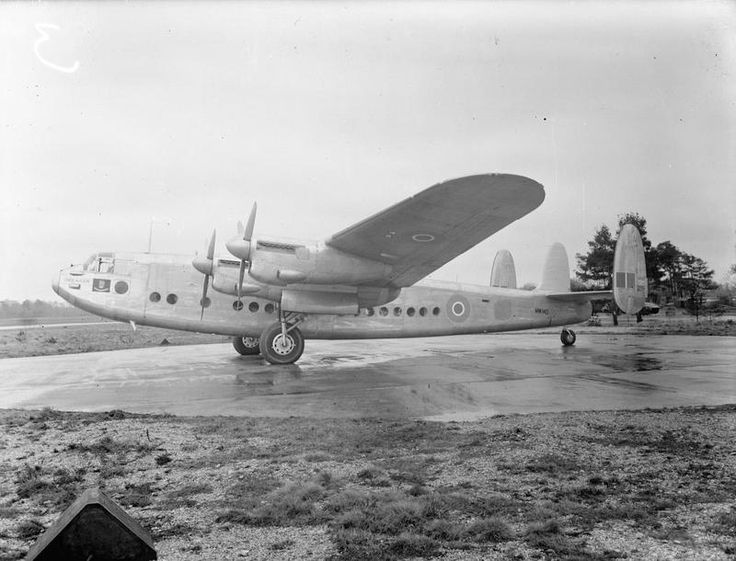 RAF Holmesley South: An Avro York before delivery to Australia for the use of the Duke of Gloucester as Governor General of Australia, Second World War. © IWM (CH 14653)