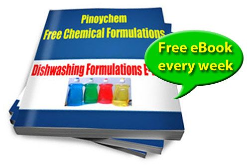 Collection of free industrial, institutional, and household chemical formulations.  It also includes chemical ingredients description link and suppliers.