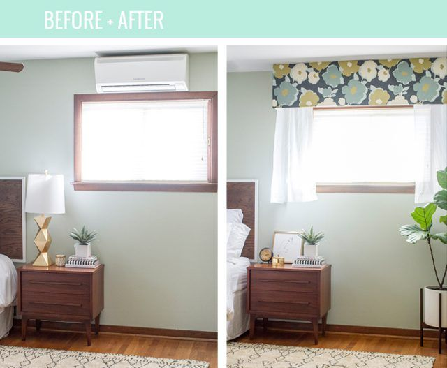 how to hide an ac wall unit with a cornice board - Air Conditioner Wall Unit