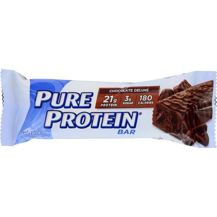 Pure Protein Bar - Chocolate Deluxe - Case of 6 - 50 Grams - For many of us chocolate is heaven. With the Pure Protein Chocolate Deluxe high protein bars you get all the flavor of chocolate without all of the sugar. Its loaded with 20 grams of high quality protein and packed with vitamins and minerals. With Pure Protein Bars heaven isnt too far away.20 grams of High Quality Protein2 grams of Sugar
