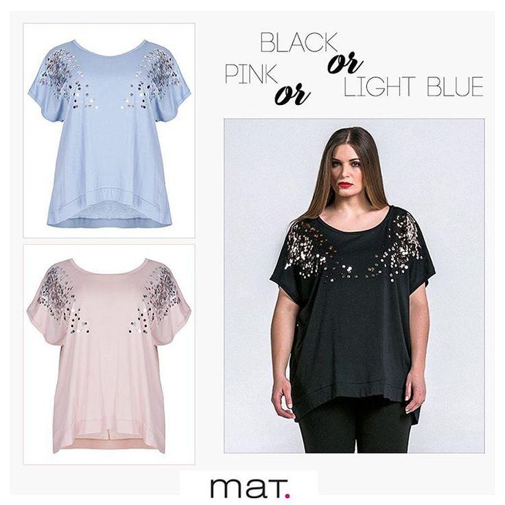 Οι παγιέτες γίνονται η αγαπημένη μας εμμονή και κοσμούν διακριτικά την καλοκαιρινή ανεμελιά της μόδας με αυτό το αέρινο τοπ σε 3 αγαπημένες αποχρώσεις!  Αγόρασε το στο ηλεκτρονικό κατάστημα μας ➲ code: 671.1325 #matfashion #ss17 #collection #realsize #ootd #style #inspiration #plussizefashion #psblogger #fashionista