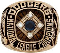 1977 Los Angeles Dodgers National League Championship Ring Presented to Maury Wills