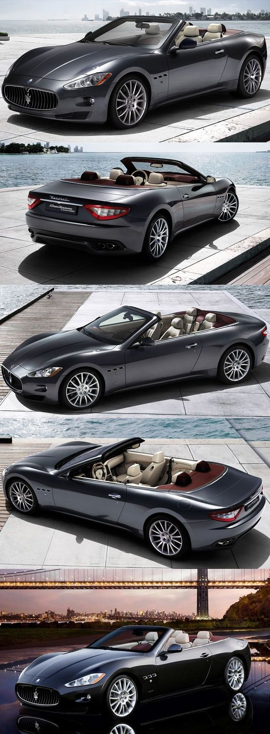 Maserati Gran Turismo Convertible, undeniably cool and expensive coming in at $126,500 and has 454 horsepower and gets 13 mpg in the city.